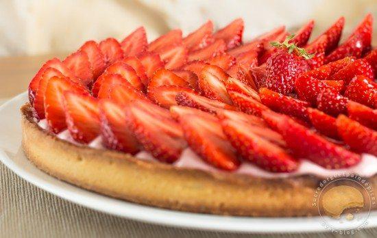 Cuisine - macarons - fraise - tarte