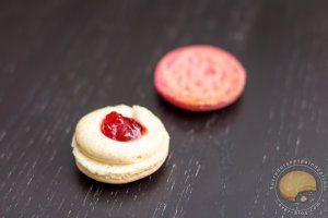 Macarons vanille / fraise